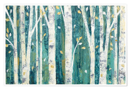 Premium poster  Birches in Spring - Julia Purinton