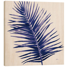 Wood print  Welcome to Paradise XIV Indigo - Janelle Penner