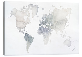 Canvas print  World map watercolor - Laura Marshall