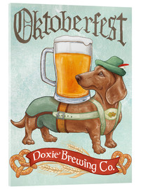 Acrylic glass  Beer Dogs III Oktoberfest - Mary Urban
