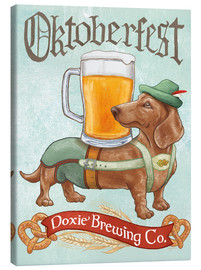 Canvas print  Beer Dogs III Oktoberfest - Mary Urban