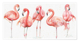 Premium poster  Pink flamingos VIII - Lisa Audit