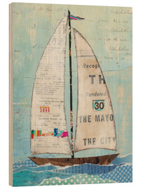 Wood print  At the Regatta III - Courtney Prahl