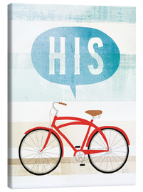 Canvas print  His bike II - Michael Mullan