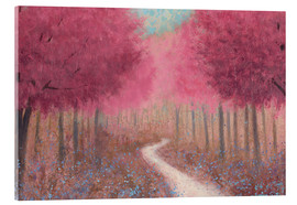 Acrylic glass  Forest path in spring - James Wiens