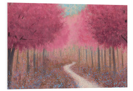 Foam board print  Forest path in spring - James Wiens