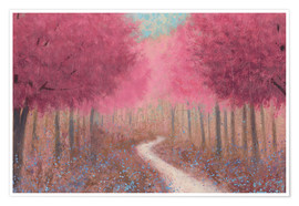 Premium poster  Forest path in spring - James Wiens