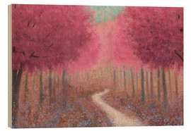 Wood print  Forest path in spring - James Wiens