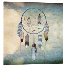 Acrylic print  dream catcher - Brenda Erickson