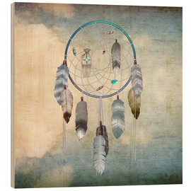 Wood print  dream catcher - Brenda Erickson
