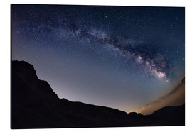 Aluminium print  Milky Way arch and starry sky at high altitude in summertime on the Alps - Fabio Lamanna