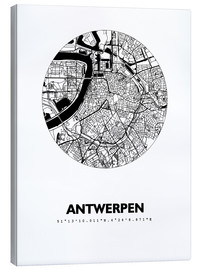 Canvas print  Map of Antwerp - 44spaces