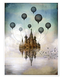 Premium poster  Travel to the east - Cathrin Welz-Stein