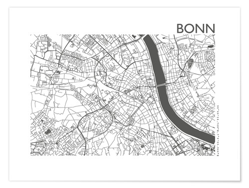 Premium poster City map of Bonn