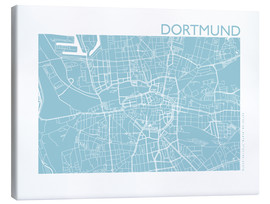 Canvas print  City map of Dortmund - 44spaces