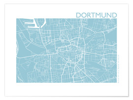 Poster  City map of Dortmund - 44spaces