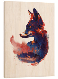 Wood print  The future is bright - Robert Farkas