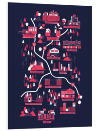 Foam board print  The Walking Dead Map - Robert Farkas
