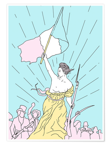Premium poster Liberty Leading the People