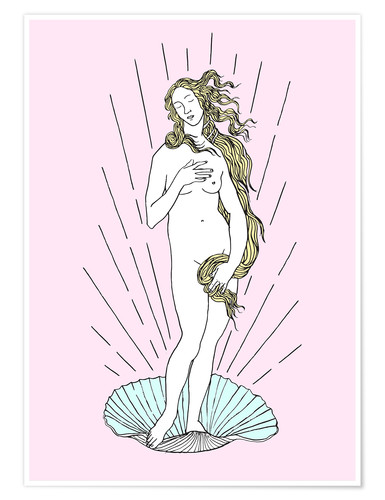 Premium poster The birth of Venus