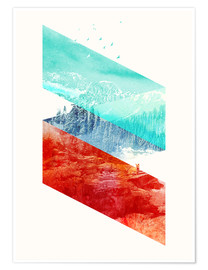 Premium poster  Mountain Stripes - Robert Farkas