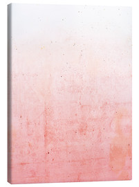 Canvas print  Pink ombre - Emanuela Carratoni