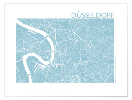 Premium poster City map of Dusseldorf