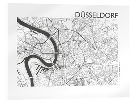 Acrylic glass  City map of Dusseldorf - 44spaces