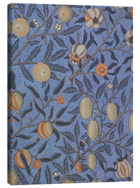 Canvas print  Blue fruit or pomegranate - William Morris
