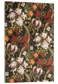 Acrylic glass  Golden Lily - William Morris