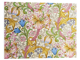 Foam board print  Golden lily - William Morris