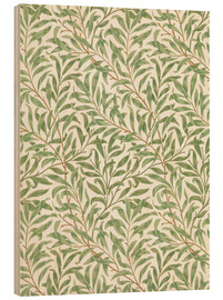 Wood print  Willow - William Morris