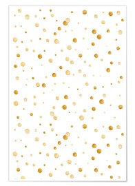 Premium poster  golden polka dot pattern