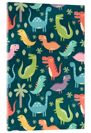 Acrylic print  Colorful dinosaurs - Kidz Collection