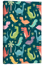 Canvas  Colorful dinosaurs - Kidz Collection