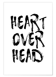 Premium poster heart over head