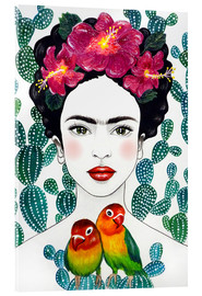 Acrylic print  Frida's lovebirds - Mandy Reinmuth