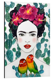 Aluminium print  Frida's lovebirds - Mandy Reinmuth