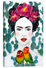 Canvas print  Frida's lovebirds - Mandy Reinmuth