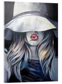 Acrylic glass  Woman with hat - Passey