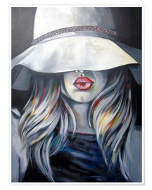 Poster  Woman with hat - Passey