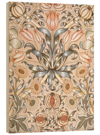 Wood print  Lily and Pomegranate - William Morris