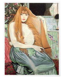 Premium poster  Woman combing her hair - Louis Anquetin