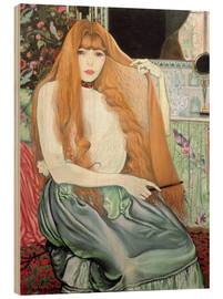 Wood print  Woman combing her hair - Louis Anquetin