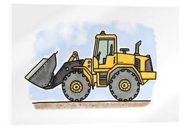 Acrylic print  Hugos wheel loader - Hugos Illustrations
