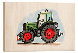Wood  Hugos tractor - Hugos Illustrations