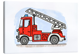 Canvas  Firetruck - Hugos Illustrations