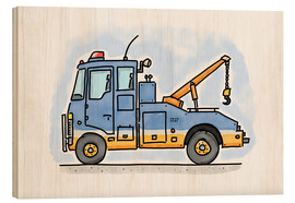 Wood print  Hugos tow truck - Hugos Illustrations
