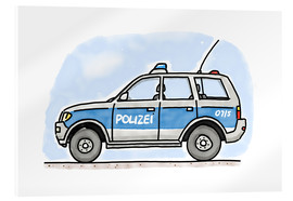 Acrylic print  Hugos German police car - Hugos Illustrations