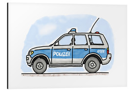 Alu-Dibond  Hugos police car - Hugos Illustrations